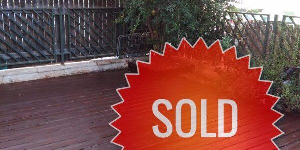 Garden Apartment SOLD on Nachal Nachshon in Ramat Beit Shemesh